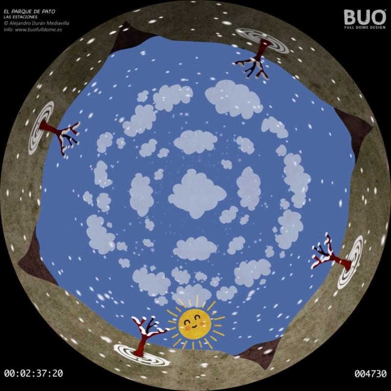 Duck and The Seasons. North Hemisphere. Digital Planetarium Astronomy. Schools.