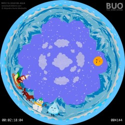 Duck and the Water Cycle. Digital Planetarium Show Film Knowledge Environment and Nature.