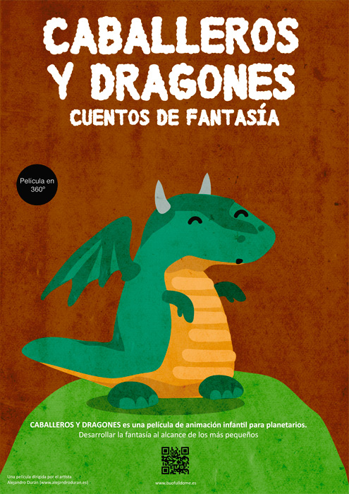 Película infantil para planetarios Caballeros Dragones