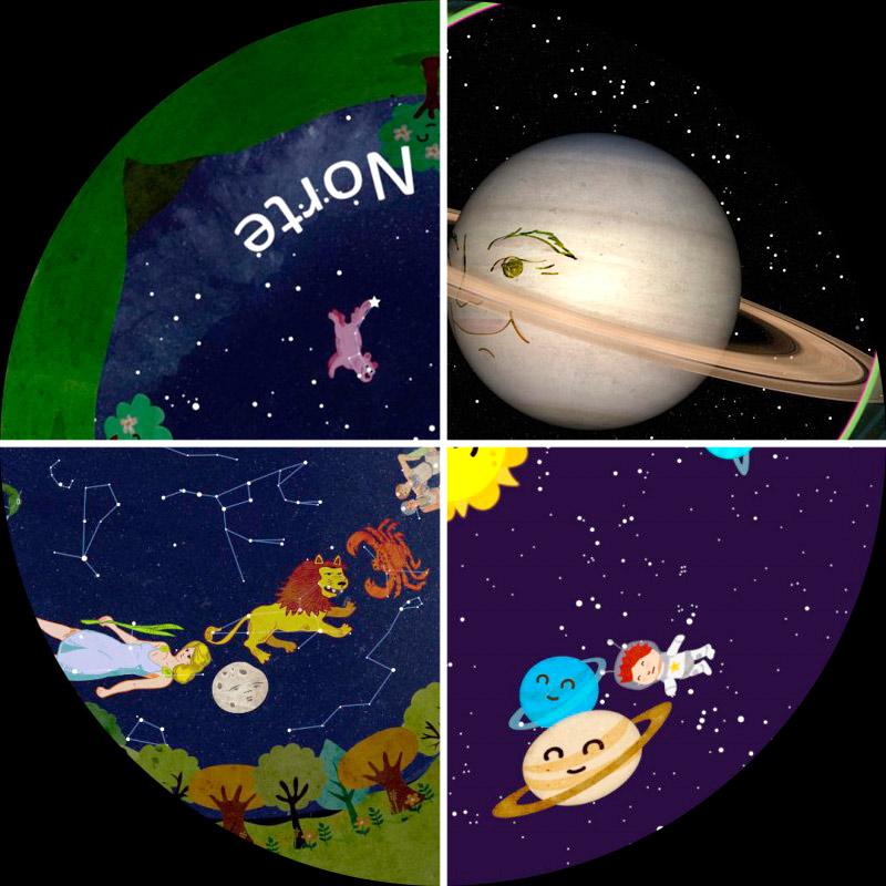 Pack 4 películas planetario móvil digital. Infantil
