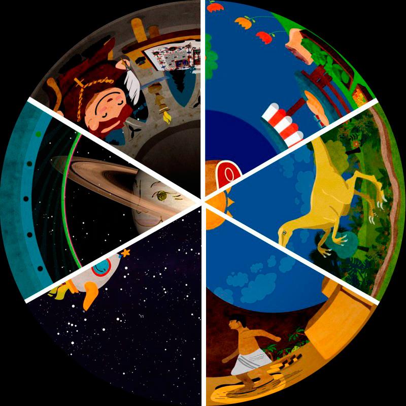 Pack 6 películas planetario móvil digital. Infantil