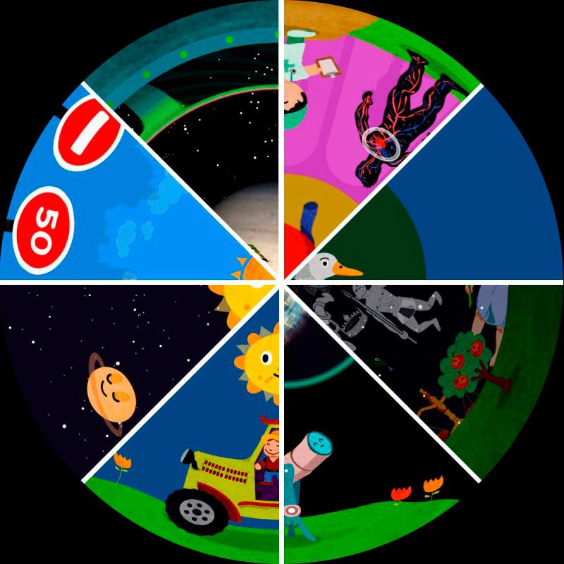 Pack Películas planetario móvil digital. Planetarium show mobile