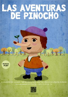 Película infantil para planetarios pinocho