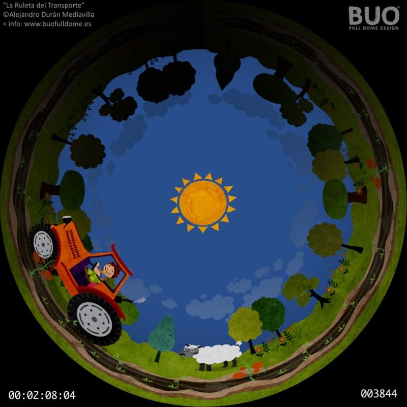 pelicula planetario trasnportes infantil fulldome proyector cupula