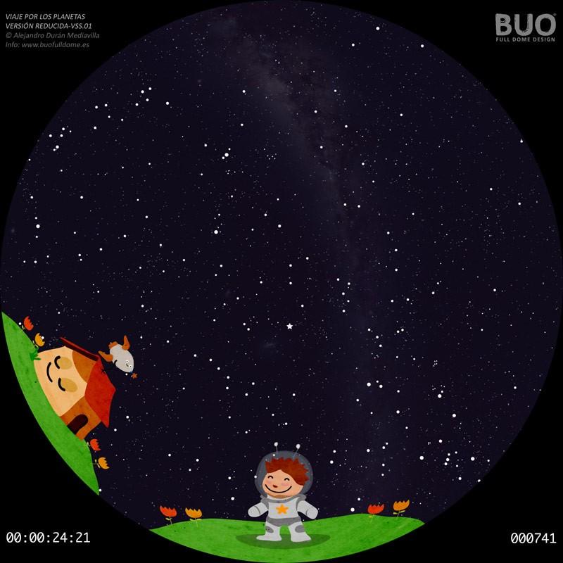 astronomia infantil pelicula planetario digital fulldome