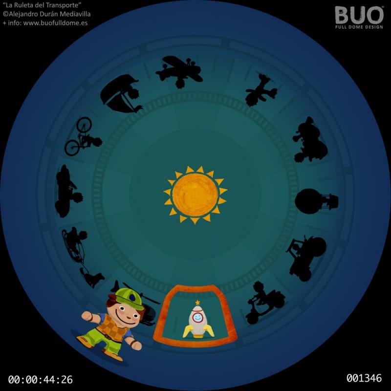 trasnportes pelicula planetario infantil digital movil