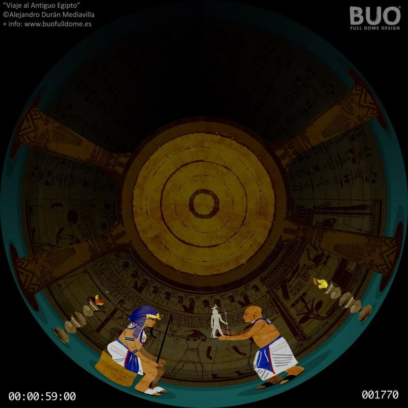 Antiguo Egipto pelicula fulldome planetario digital